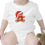DIY Christmas Santa Bear Baby Bodysuits