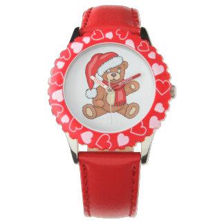 DIY Christmas Santa Bear Wristwatches