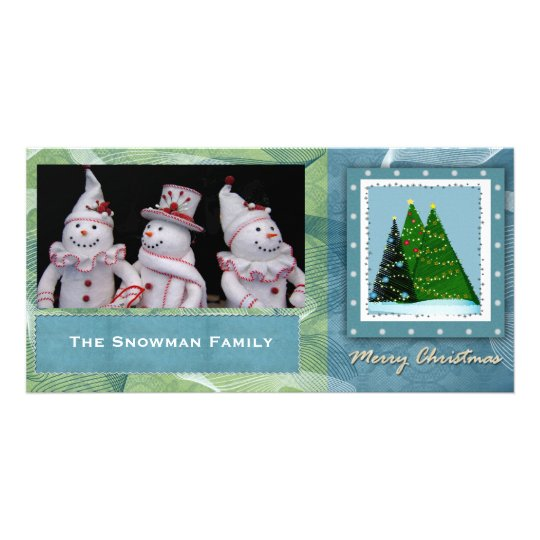 DIY Christmas Tree Personalized Photo Card