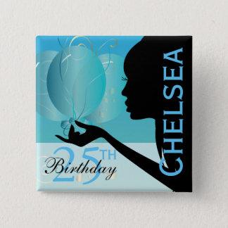 DIY Classy Birthday Party Girl Button