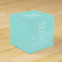 DIY color favor box/Aqua blue Favor Box