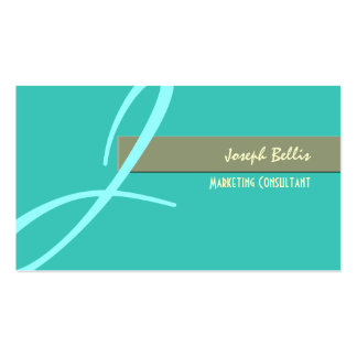 diy color, monogram in seafoam/blue Double-Sided standard business cards (Pack of 100)