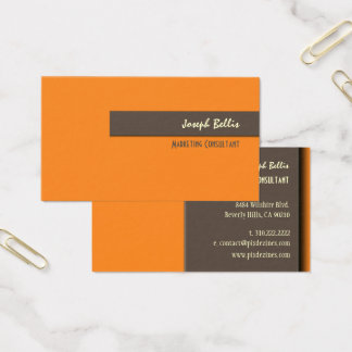 DIY color/Orange+Brown Business Card