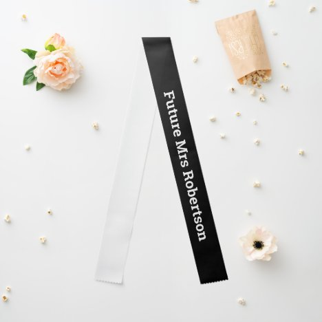 DIY color wording and size | black Sash