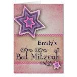 DIY Colorful Bat Mitzvah design Greeting Card