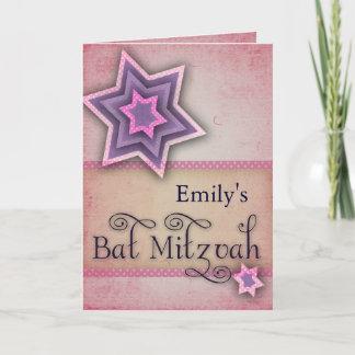 DIY Colorful Bat Mitzvah design Note Card