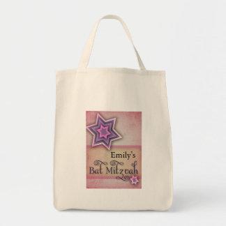 DIY Colorful Bat Mitzvah design Tote Bag