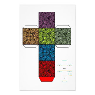 DIY- Colorful Doodle Design Box Template Stationery