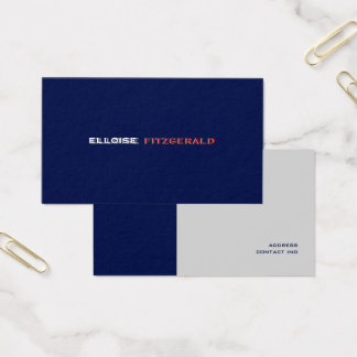 DIY colors+fonts business card