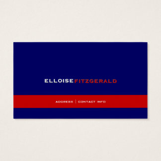 DIY colors+fonts business card/navy blue Business Card
