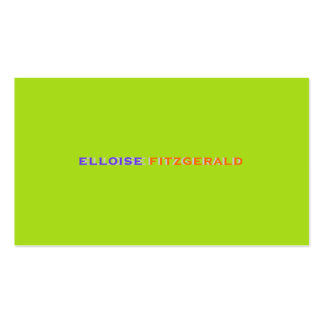 DIY colors+fonts business card neon lime