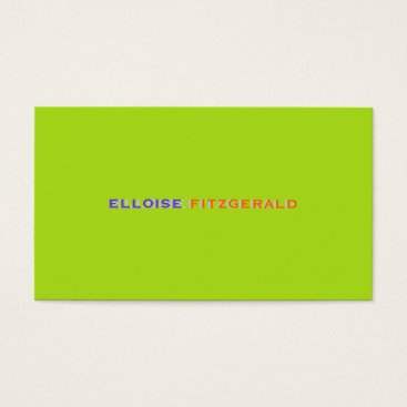 Professional Business DIY colors fonts business card/neon lime Business Card