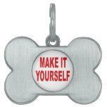 DIY crean su propia etiqueta de plata de encargo d Placa De Mascota