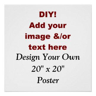 """DIY crean su propio 20"""" x 20"""" el poster de encargo"""