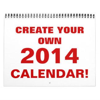 DIY crean su propio calendario 2014