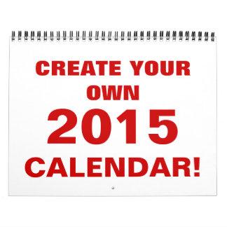 DIY crean su propio calendario 2015