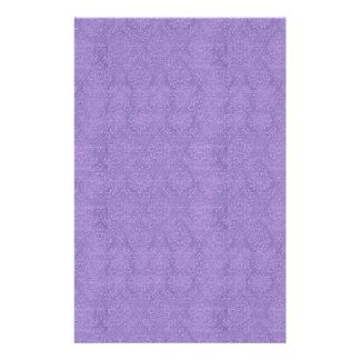DIY crean su propio damasco púrpura del boda Personalized Stationery