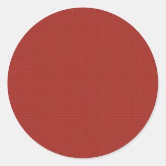 DIY crean su propio estallido rojo del artículo Pegatina Redonda