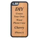 DIY crean su propio iPhone de madera del caso 6