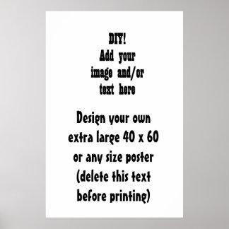 DIY crean su propio poster casero de la decoración