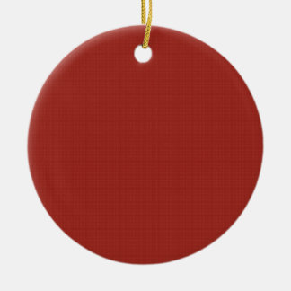 DIY Creat Your Own Red Pop of Color Gift Item Double-Sided Ceramic Round Christmas Ornament