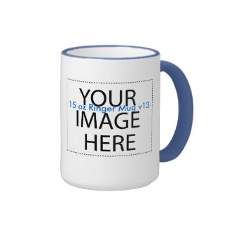 DIY Create a Unique Zazzle Drinkware Gift Item A13 Ringer Coffee Mug