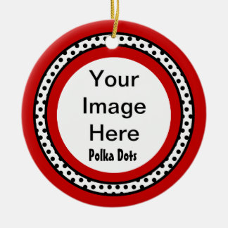 DIY Create Your Custom Photo Gift Circle Frame Z11 Ceramic Ornament