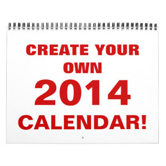 DIY Create Your Own 2014 Calendar