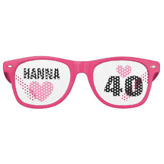 DIY Create Your Own 40th BIRTHDAY or ANY YEAR A62D Retro Sunglasses