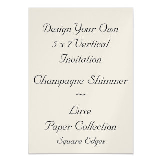 DIY Create Your Own 5 x 7 Champagne Shimmer V01K Card