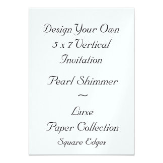 DIY Create Your Own 5 x 7 Pearl Shimmer Paper V01J Card