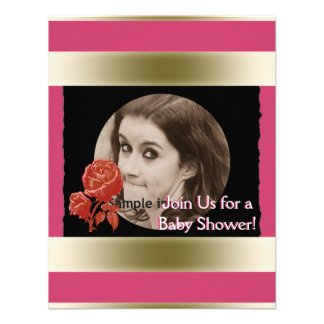 DIY Create Your Own Black Personalized Photo Frame Custom Invite
