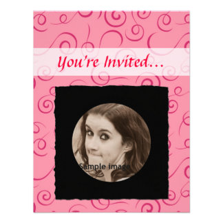 DIY Create Your Own Black Personalized Photo Frame Personalized Invitations