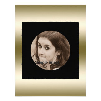 DIY Create Your Own Black Personalized Photo Frame Personalized Invite