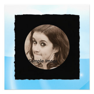 DIY Create Your Own Black Personalized Photo Frame Custom Invites
