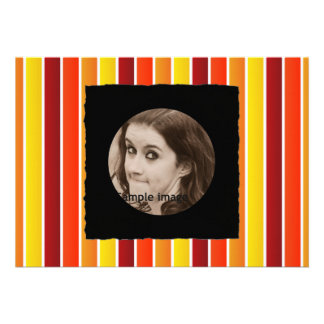 DIY Create Your Own Black Personalized Photo Frame Custom Announcement