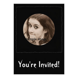 DIY Create Your Own Black Personalized Photo Frame Personalized Invites