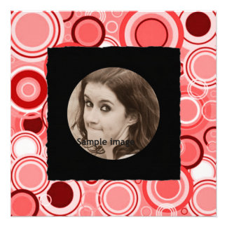 DIY Create Your Own Black Personalized Photo Frame Personalized Announcements