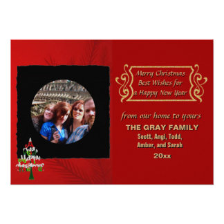 DIY Create Your Own Black Personalized Photo Frame Invites