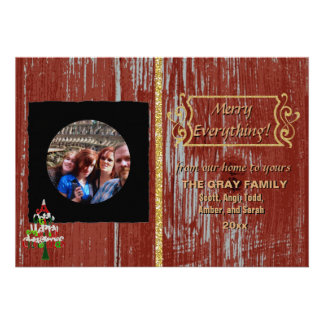DIY Create Your Own Black Personalized Photo Frame Custom Announcements