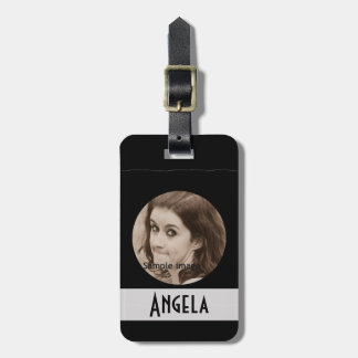 DIY Create Your Own Black Personalized Photo Frame Travel Bag Tag