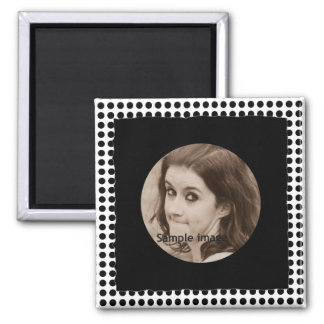 DIY Create Your Own Black Personalized Photo Frame Magnets