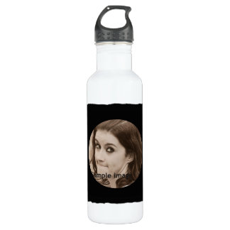 DIY Create Your Own Black Personalized Photo Frame Water Bottle