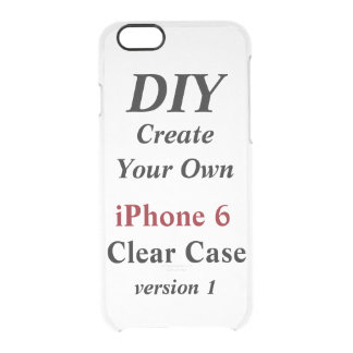 DIY Create Your Own Custom Clear iPhone 6 Case V01 Uncommon Clearly™ Deflector iPhone 6 Case