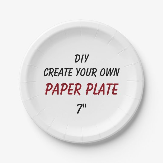 DIY Create Your Own Custom Paper Plate V02A  sc 1 st  Zazzle & DIY Create Your Own Custom Paper Plate V02A | Zazzle.com