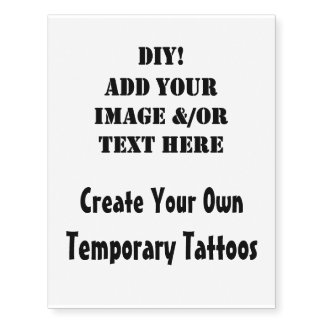 DIY Create Your Own Custom Temporary Tattoos V01