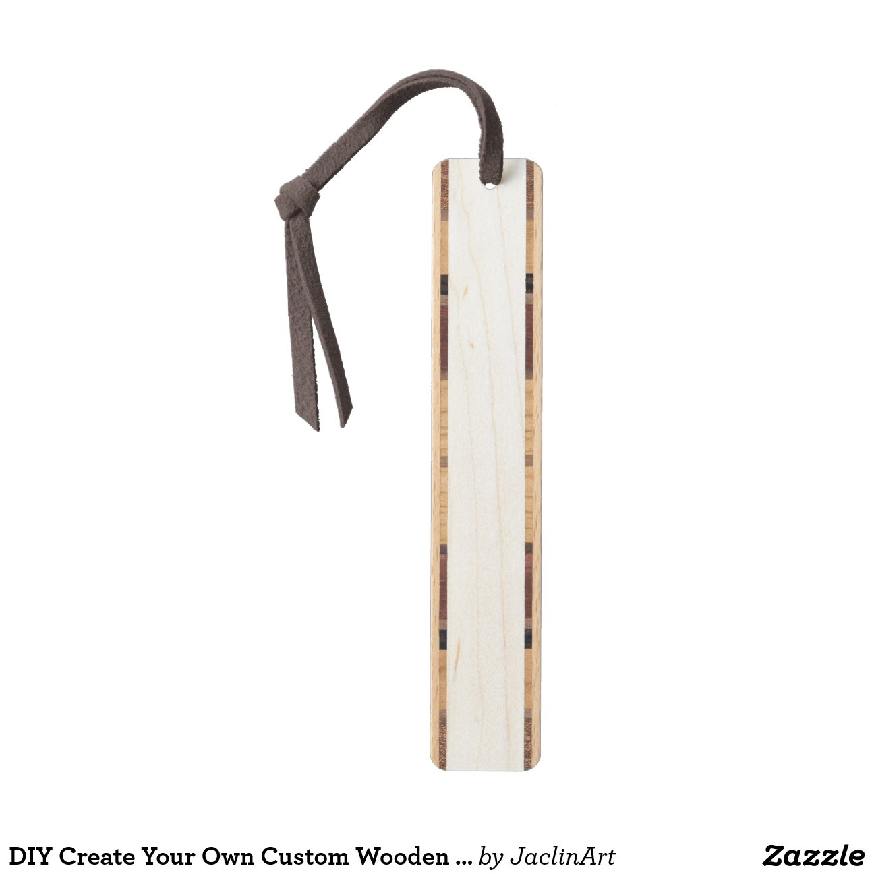 diy create your own custom wooden bookmark v03h maple