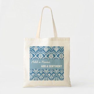 DIY Create Your Own Damask Custom Gift V01 Tote Bag