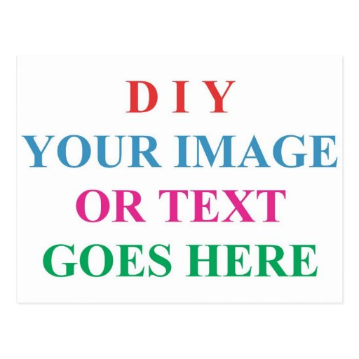 Diy create your own design postcard zazzle for Post office design your own stamps