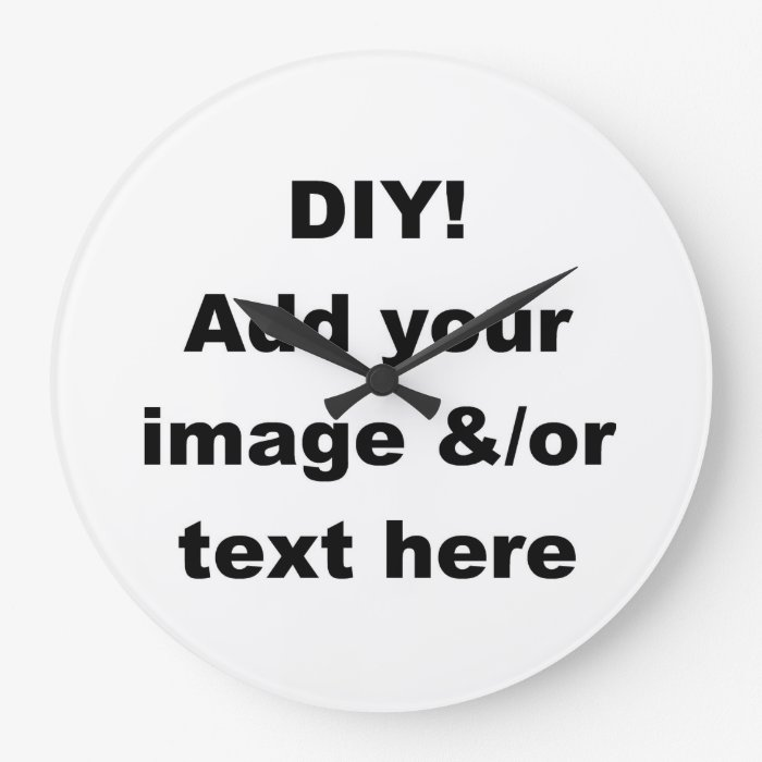 Diy create your own home decor wall clock zazzle for Create your own home